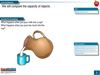 Compare The Capacity of Objects