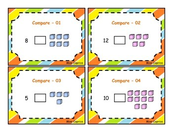 Compare the numbers - 1st grade
