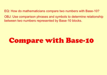 Compare with Base-10 Blocks (2-Digit Numbers) SMARTNoteboo
