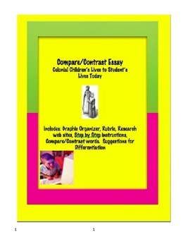Compare/Contrast Essay Colonial Children with Children Today