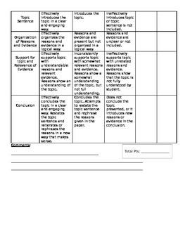 Compare/Contrast Essay Graphic Organizer & Rubric-EDITABLE