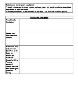 Compare/Contrast Essay Graphic Organizer & Rubric
