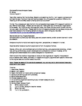 Process Paper Essay Comparecontrast Essay Of Alas Babylon And I Am Legend Example Of A Proposal Essay also Essay For High School Application Examples Comparecontrast Essay Of Alas Babylon And I Am Legend By Shannon  Help Writing Essay Paper