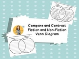 FREEBIE Compare/Contrast Fiction and Non-Fiction Venn Diagram Graphic Organizer