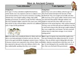 Compare/Contrast Life of Men in Ancient Greece Reading
