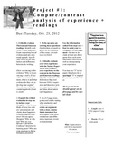 Compare/Contrast/Analysis of Experience