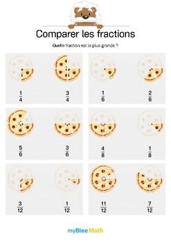 Comparer les fractions 1 - Quelle fraction est la plus grande ?