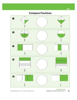 Compares Fractions from 1/12 to 1/2
