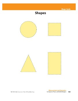 Compares Plane and Solid Shapes (Geometry)