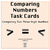 Comparing 2 3-Digit Numbers- Task Cards- Math Centers 2nd Grade 2.NBT.A.4
