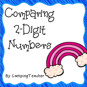 Comparing 2-Digit Number Task Cards {Freebie!}