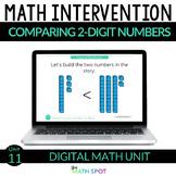Comparing 2 Digit Numbers | 1st Grade Digital Distance Lea