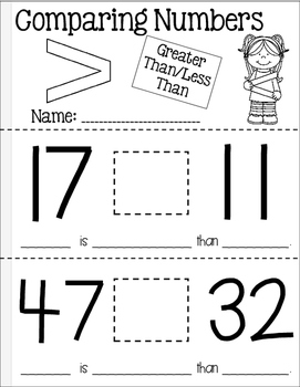 Comparing 2-Digit Numbers