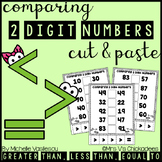 Comparing 2 Digit Numbers: Cut & Paste Activities