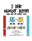 Comparing 2 Digit Numbers - Number Battle with Base Ten Images