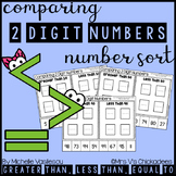 Comparing 2 Digit Numbers: Number Sort