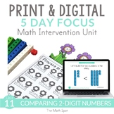 Comparing 2 Digit Numbers Unit