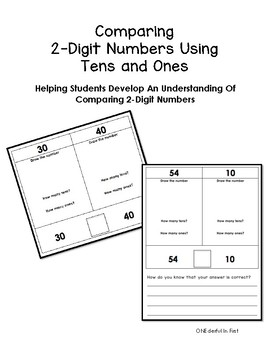 Comparing 2-Digit Numbers Using Tens and Ones