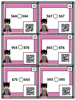 Comparing 2 Three-Digit Numbers (with & without QR codes)