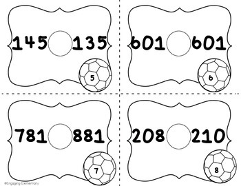 Comparing Numbers Write the Room