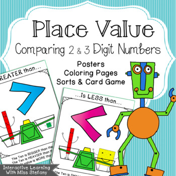Comparing 2 and 3 Digit Numbers {Robot Fun}