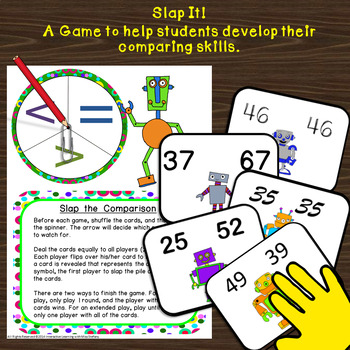 Robots Compare 2-Digit and 3-Digit Numbers