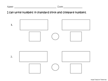 Comparing 2-digit Numbers-Place Value Practice