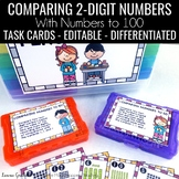 Comparing 2-digit Numbers to 100 Task Cards • Scoot  1.NBT.B.3