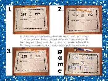 Comparing 2 digit numbers mat