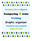 Comparing 2 texts when writing