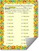Comparing 3-4 Digit Whole Numbers Worksheet or Assessment