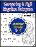Comparing 3 Digit Negative Integers Test