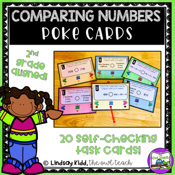 Comparing 3 Digit Numbers:  Poke Cards