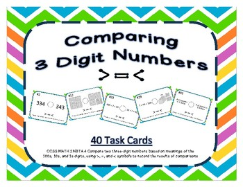 Comparing 3 Digit Numbers