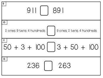 Comparing 3-Digit Numbers Activities