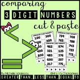 Comparing 3 Digit Numbers: Cut & Paste Activities
