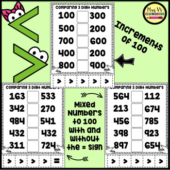 Comparing 3 Digit Numbers: Cut & Paste Activities