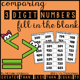 Comparing 3 Digit Numbers: Fill in the Blank