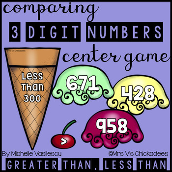 Comparing 3 Digit Numbers: Hands on Center