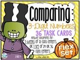 Comparing 3-Digit Numbers Place Value Task Cards Flex Set 2.NBT.4