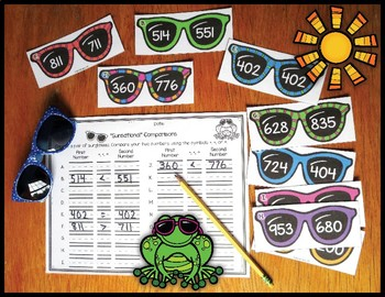 """Comparing 3 Digit Numbers """"Sunsational"""" Comparisons"""