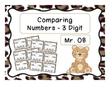 Comparing 3 Digit Numbers - Task Cards