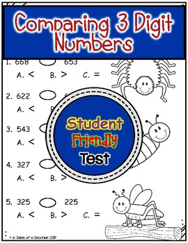Comparing 3 Digit Numbers Test