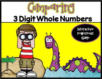 Comparing 3 Digit Whole Numbers ~ PPT Game