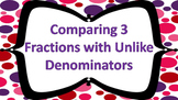 Comparing 3 Fractions with Unlike Denominators Task Card FREEBIE!