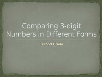 Comparing 3-digit Numbers in Different Forms