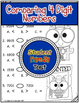Comparing 4 Digit Numbers Test