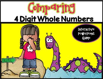 Comparing 4 Digit Whole Numbers ~ PPT Game