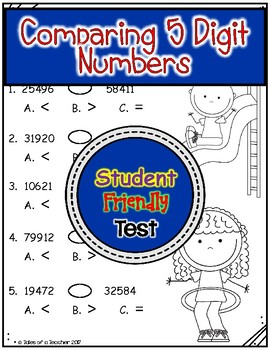 Comparing 5 Digit Numbers Test