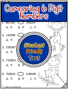 Comparing 6 Digit Numbers Test